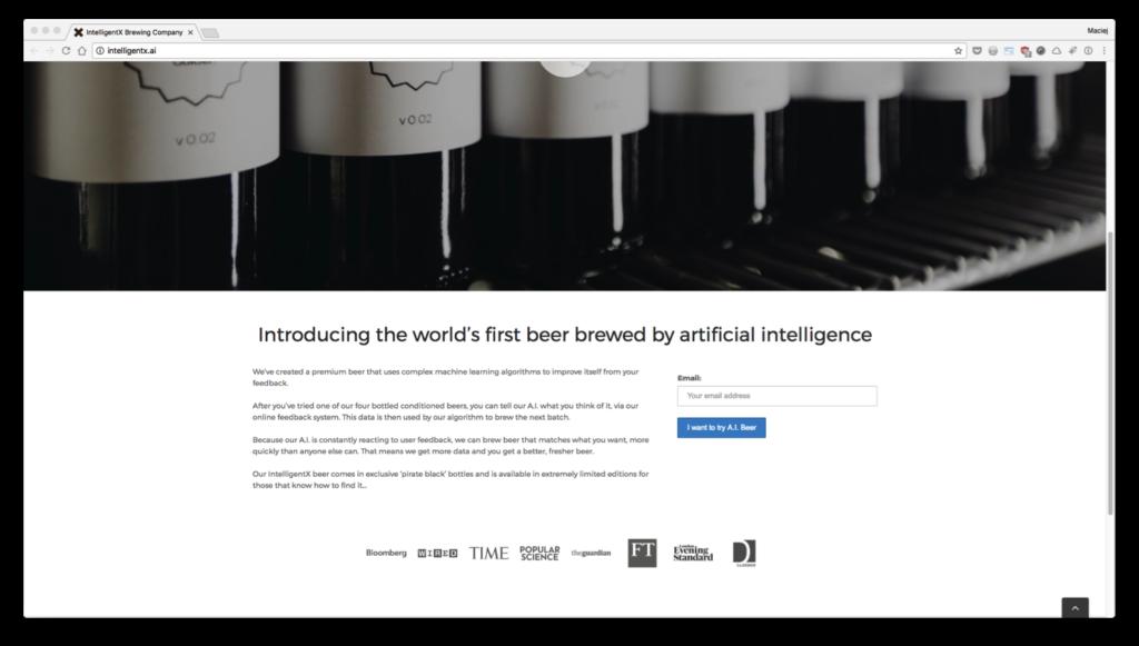 IntelligentX Brewing Company —world's first beer brewed byartificial intelligence